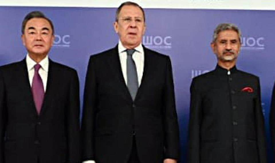 External Affairs Minister Dr S Jaishankar along with his Russian and Chinese counterpart Sergei Lavrov and Wang Yi at the formal opening of the meeting of the Foreign Ministers of the Shanghai Cooperation Organization in Moscow.