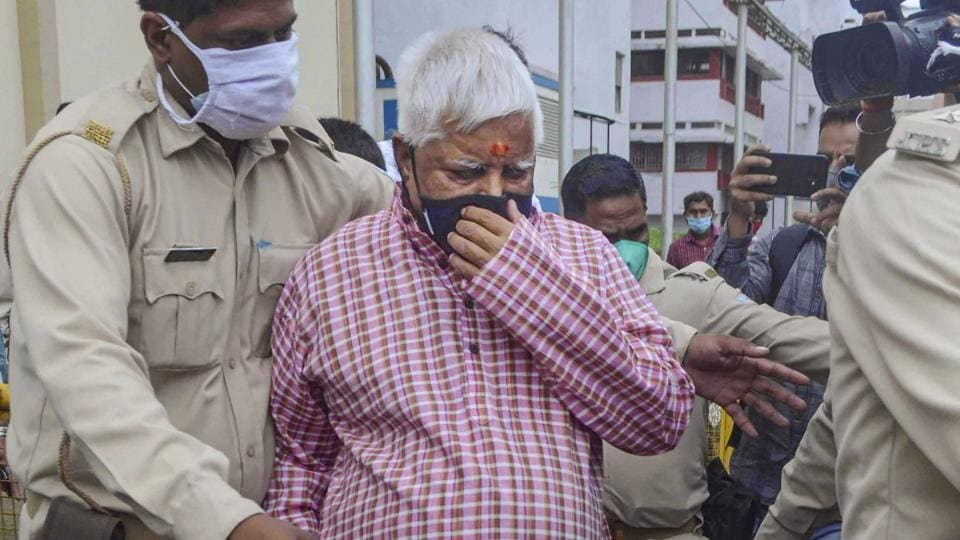 Rashtriya Janta Dal (RJD) Chief Lalu Prasad Yadav is shifted from paying ward of Rajendra Institute of Medical Science (RIMS) to director bungalow, due to surge in COVID-19 cases, in Ranchi.