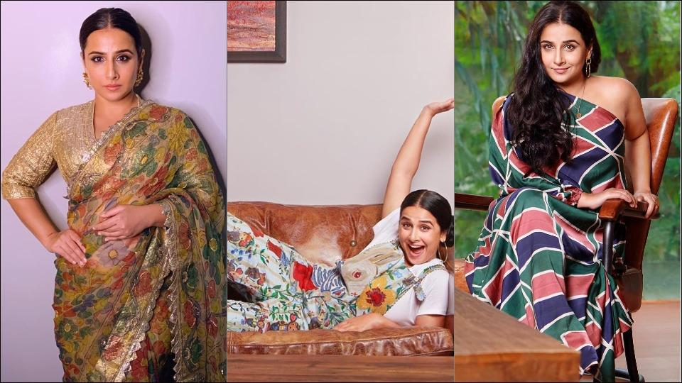 Vidya Balan amps up style quotient this fall in floral sarees and western outfits