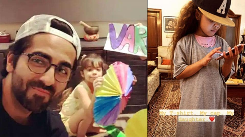 Ayushmann Khurrana shares adorable picture of six-year-old Varushka: 'My T-shirt, my cap, my daughter' – bollywood