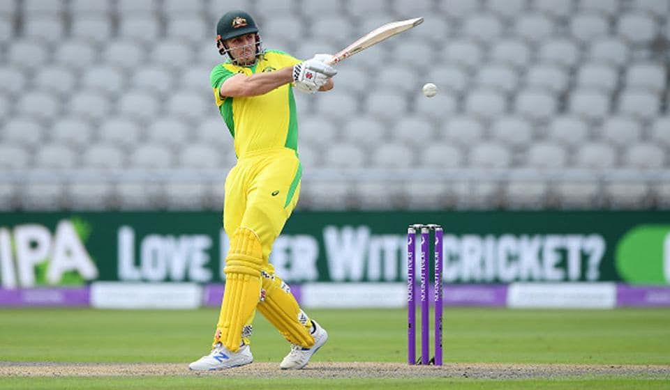 Mitchell Marsh scored 73 including six boundaries before falling LBW to Mark Wood (Getty)