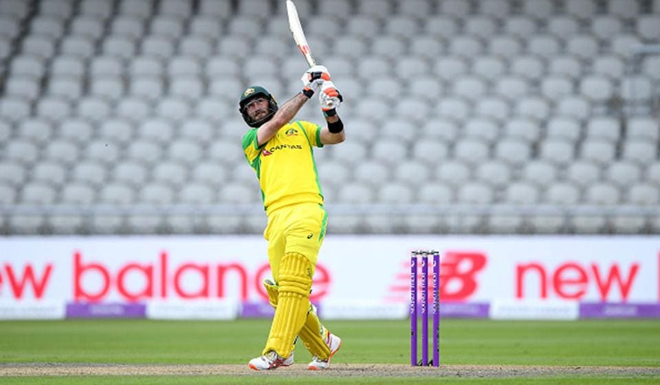 Glenn Maxwell top scored for Australia with 77. He hit paceman Jofra Archer for consecutive sixes in the 44th over but chopped the next ball on (Getty)