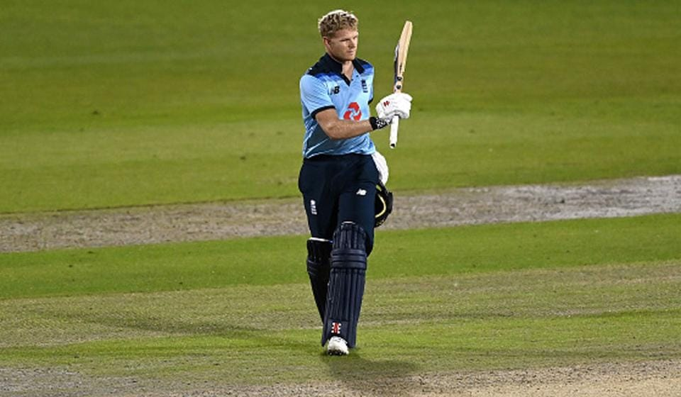 Sam Billings kept England in the hunt with a maiden ODI century even as wickets tumbled around him. He scored 118 with 14 fours and two sixes and was the last wicket to fall in the final ball of the match (Getty)