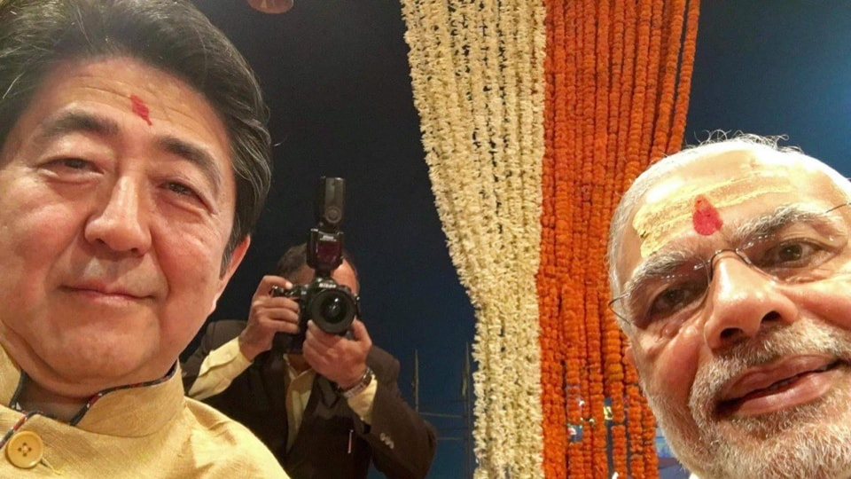 Lauding Indo-Japan ties, Japanese PMAbe on Friday had shared pictures on Twitter from his trip to India in 2015 and 2017, in addition to pictures from PMModi's visit to Yamanashi in 2018.