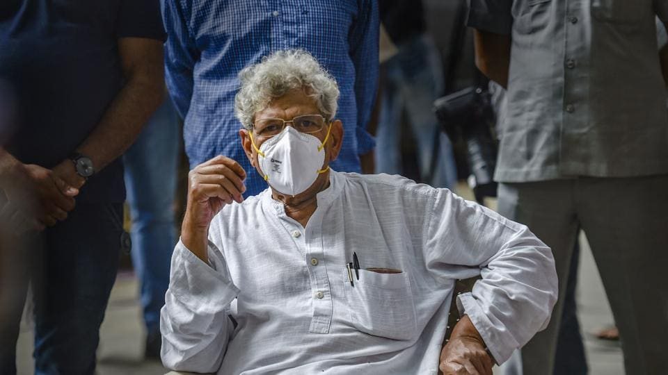 Reacting to the charge sheet, Yechury hit out at the government through a series of tweets.