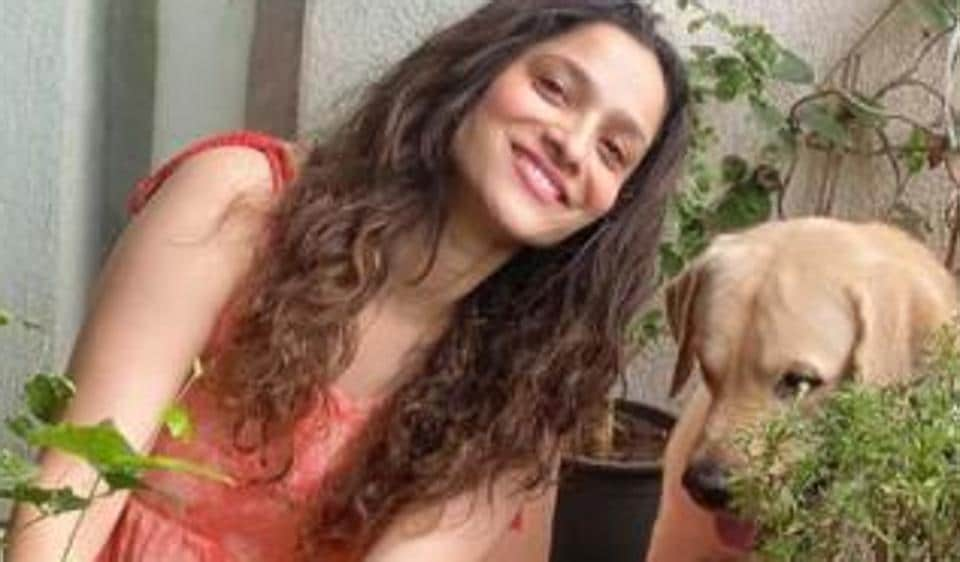 Ankita Lokhande posed with her dog as she did some gardening in Sushant Singh Rajput's memory.