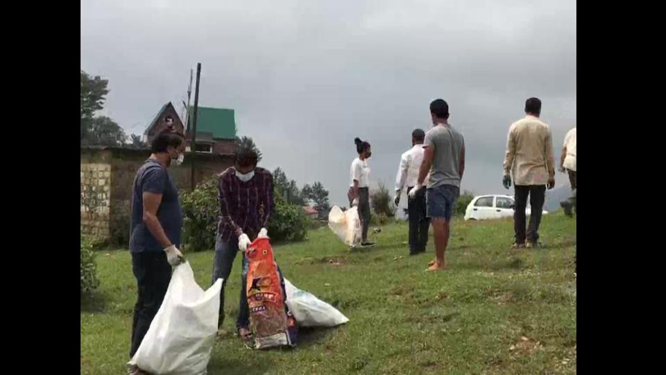 Dhauladhar Cleaners pick up garbage on the hills in Dharamshala on weekends.