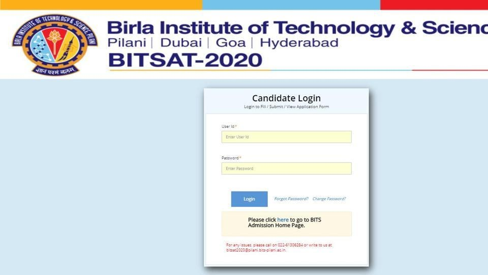 BITSAT admit card 2020.