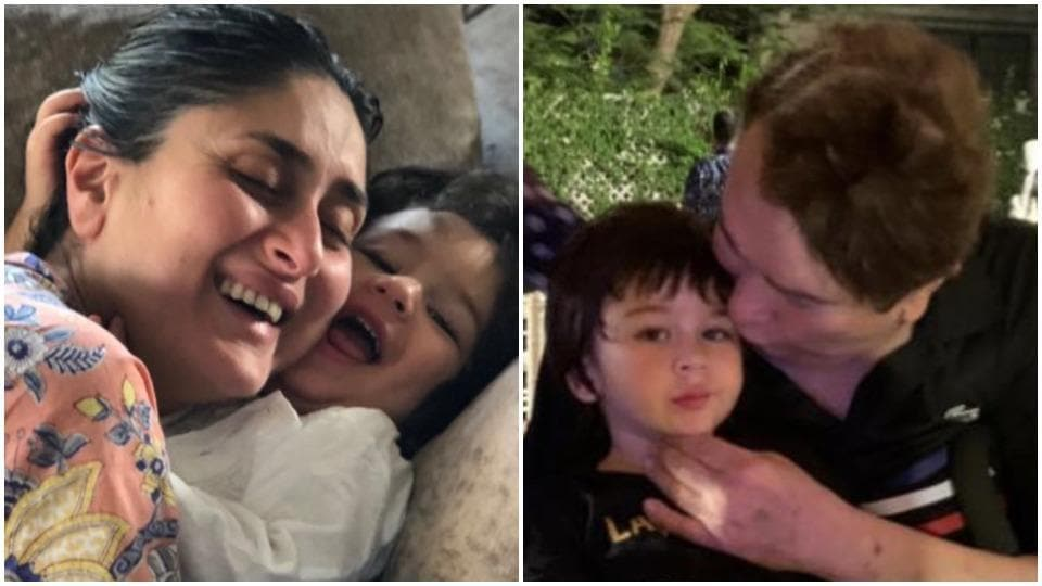 Kareena Kapoor's son Taimur gets cuddles from mom, kisses from grandpa Randhir Kapoor in unseen pics from family album