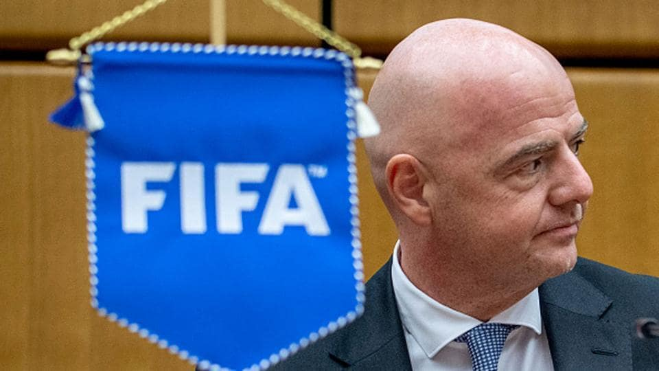 File image of Gianni Infantino, president of the International Federation of Association Football (FIFA)
