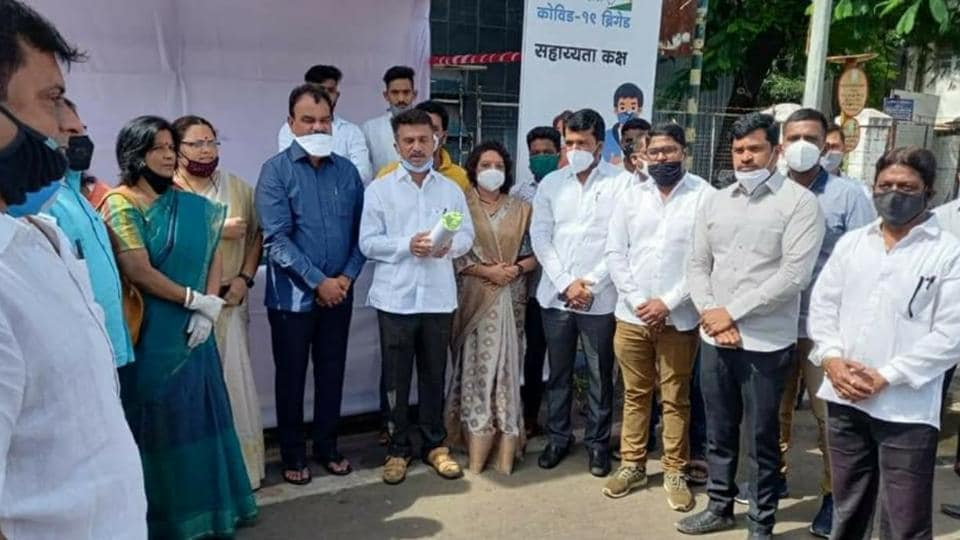 Minister of state for forest Dattatray Bharne inaugurated the Covid-19 help desk at Parvati assembly constituency on Monday.