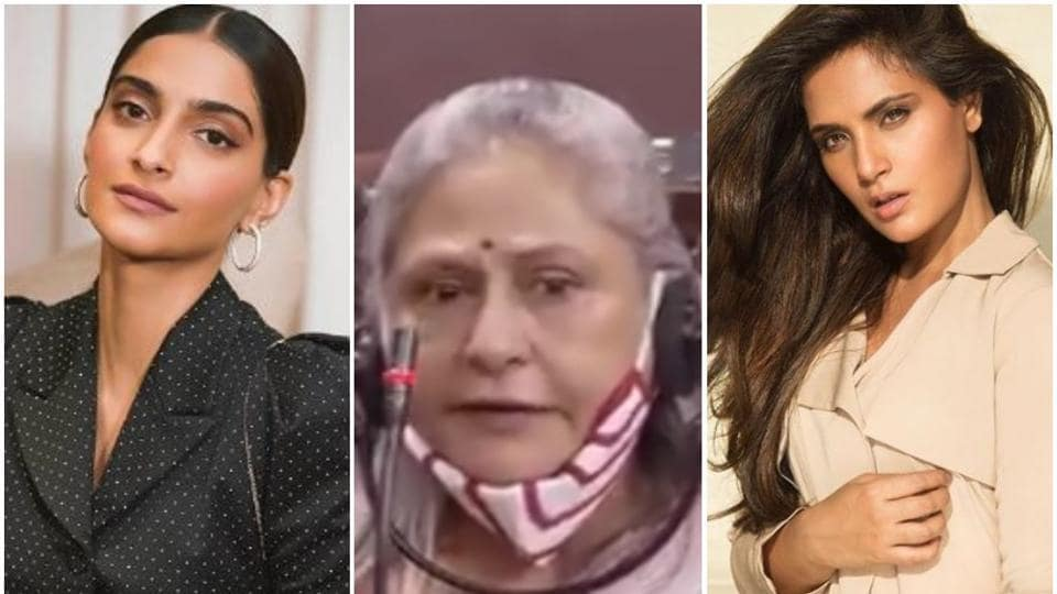 Many Bollywood stars such as SonamKapoor and Richa Chadha came out in support of Jaya Bachchan.