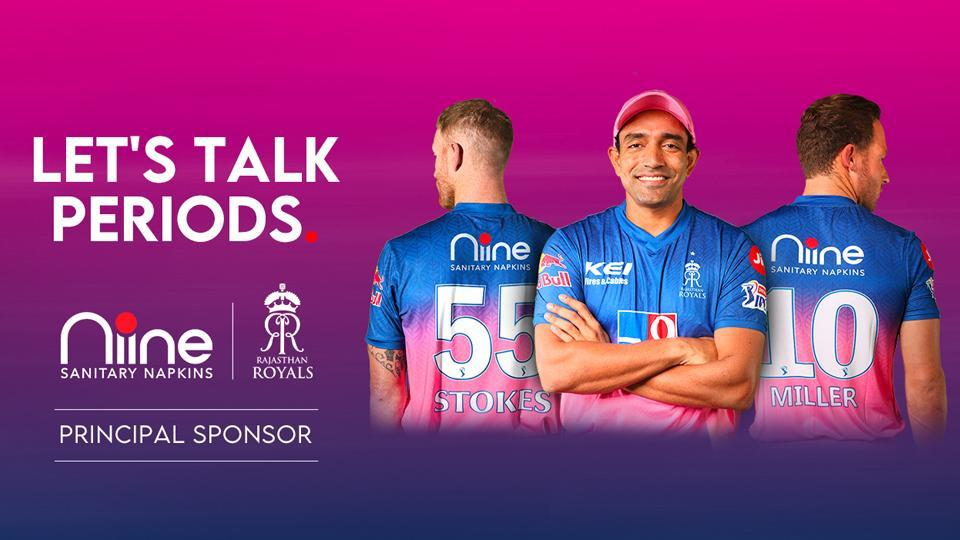 Niine, Principal Sponsor for Rajasthan Royals, Indian Premier League 2020