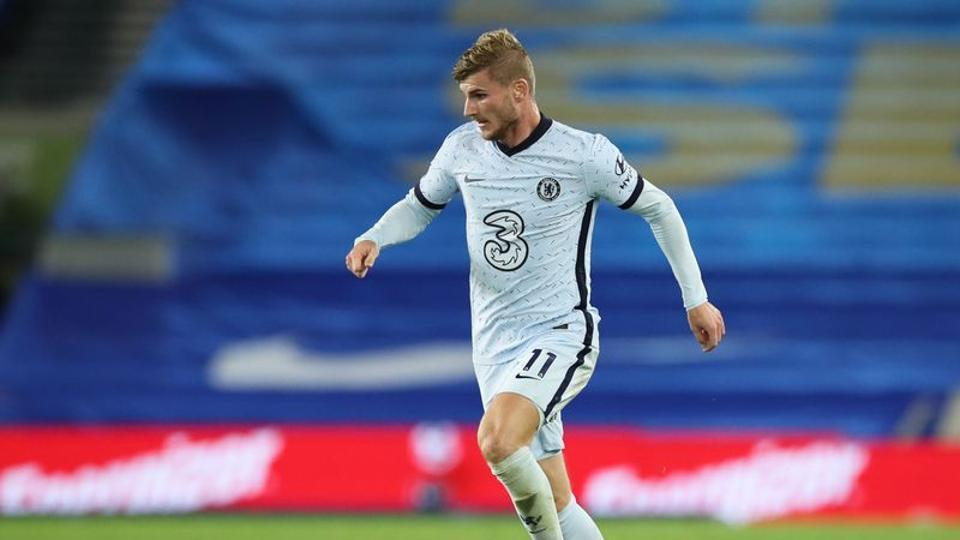 Soccer Football - Premier League - Brighton & Hove Albion v Chelsea - The American Express Community Stadium, Brighton, Britain - September 14, 2020. Chelsea's Timo Werner in action. Pool via REUTERS/Peter Cziborra
