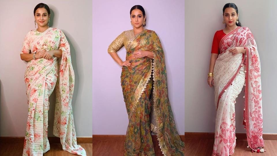 Vidya Balan, the queen of ethnic fashion.