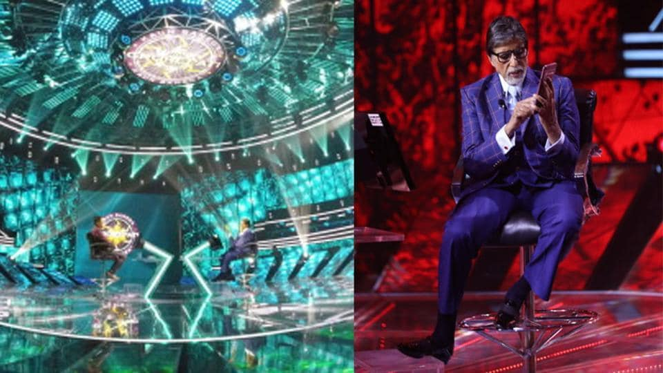 Amitabh Bachchan shared a few pictures from the sets of Kaun Banega Crorepati.