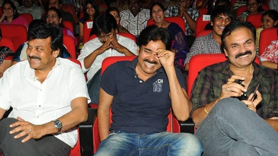 Chiranjeevi's brother Naga Babu (right) has tested positive for Covid-19.