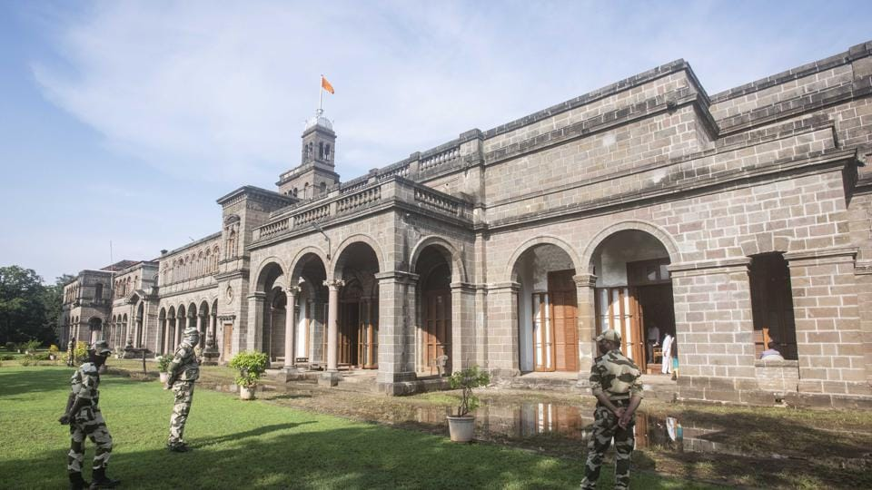 Main building of Savitribai Phule Pune University in Pune. The varsity has appointed coordinators, subject-wise and district-wise, to conduct the final year exams.