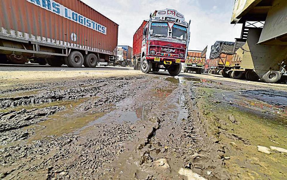 Potholed and damaged city roads continue to pose inconvenience to commuters.