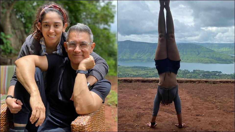 Ira Khan makes fans' jaws drop in awe with her neat handstand in Panchgani