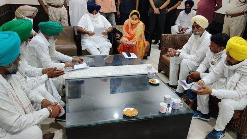 The SAD, which clarified that it continues to be part of the NDA government, is opposed to the farm bill moved by the government, alleging that it is anti-farmer. (Photo @HarsimratBadal_)