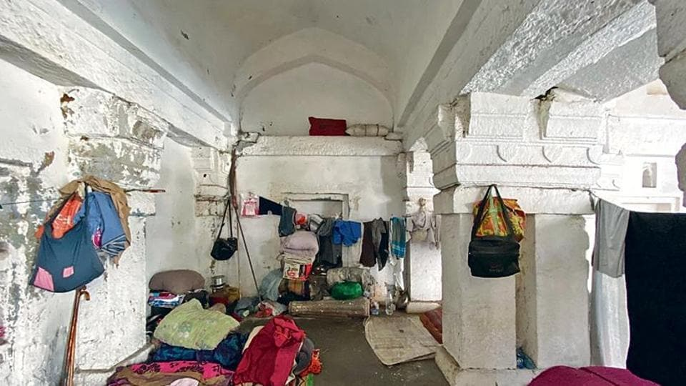 Their accommodation here is rustled out from within the tomb's white chamber where any number of mattresses smell damp.