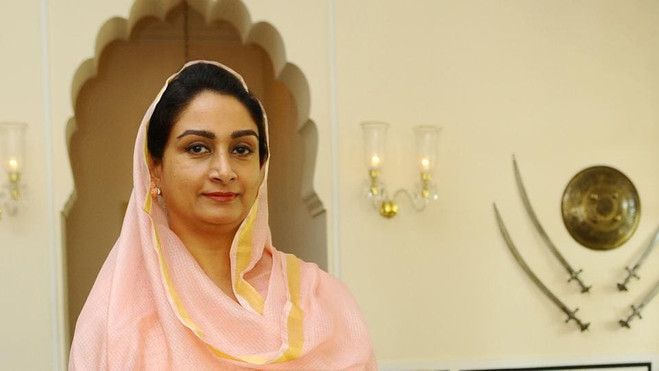 """Shiromani Akali Dal leader Harsimrat Kaur Badal is seen in this file photo. Badal had on Thursday resigned from the Union Cabinet in protest against three """"anti-farmer"""" ordinances and legislation."""