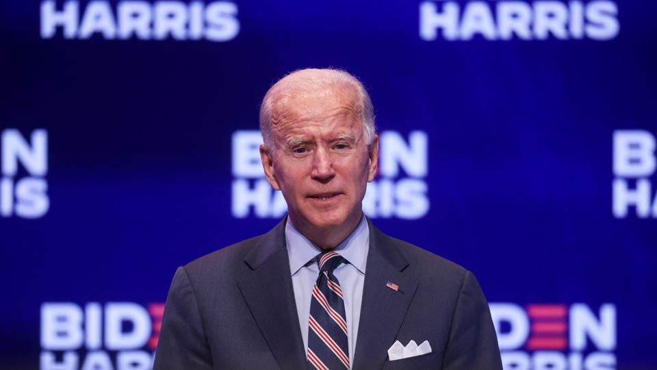"Biden, the magazine said, ""has a record of following the data and being guided by science""."