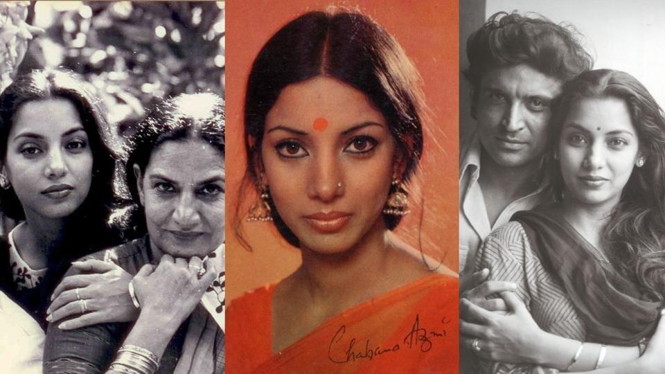 Shabana Azmi through the years.