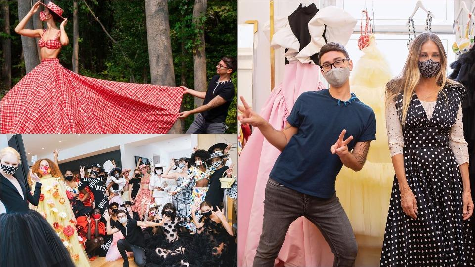 New York Fashion Week: Designer Christian Siriano flaunts Spring 2021 collection from backyard, backstage moments in kitchen