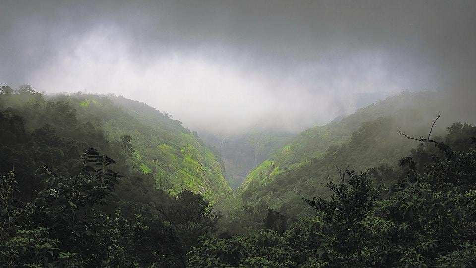 An overcast sky adds to the scenic beauty of Tamhini ghat near Pune, as seen in a snapshot taken on Thursday. Tamhini, like other hill stations in western Maharashtra has received heavy rainfall this monsoon season.
