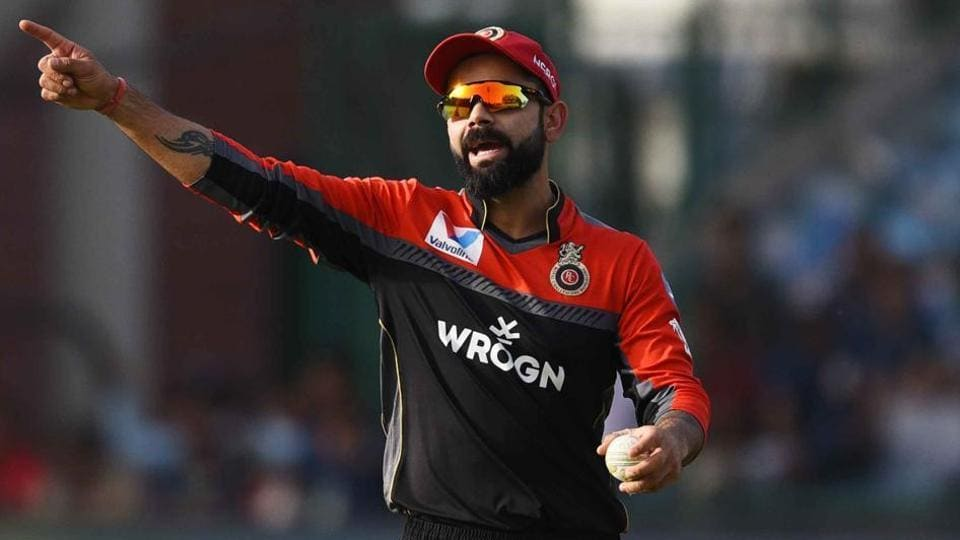 Royal Challengers Bangalore player Virat Kohli seen during IPL match against Delhi Capital, Feroz Shah Kotla Grounds, New Delhi,  April 28, 2019
