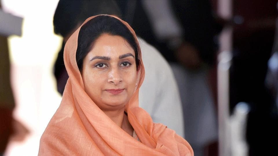 """""""I have resigned from Union Cabinet in protest against anti-farmer ordinances and legislation. Proud to stand with  farmers as their daughter and sister,"""" Harsimrat Kaur Badal wrote in a Twitter message."""