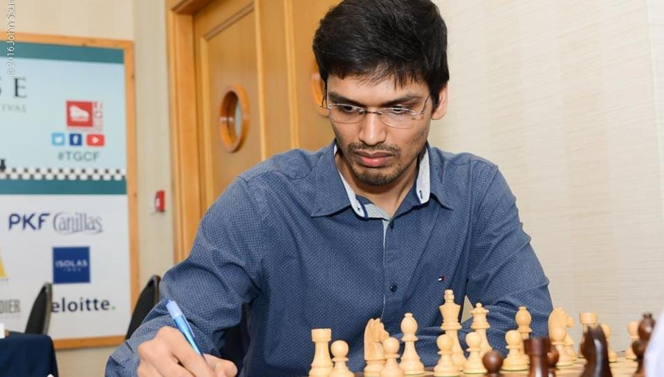 File image of P. Harikrishna at the Tradewise Gibraltar Chess Festival 2016.