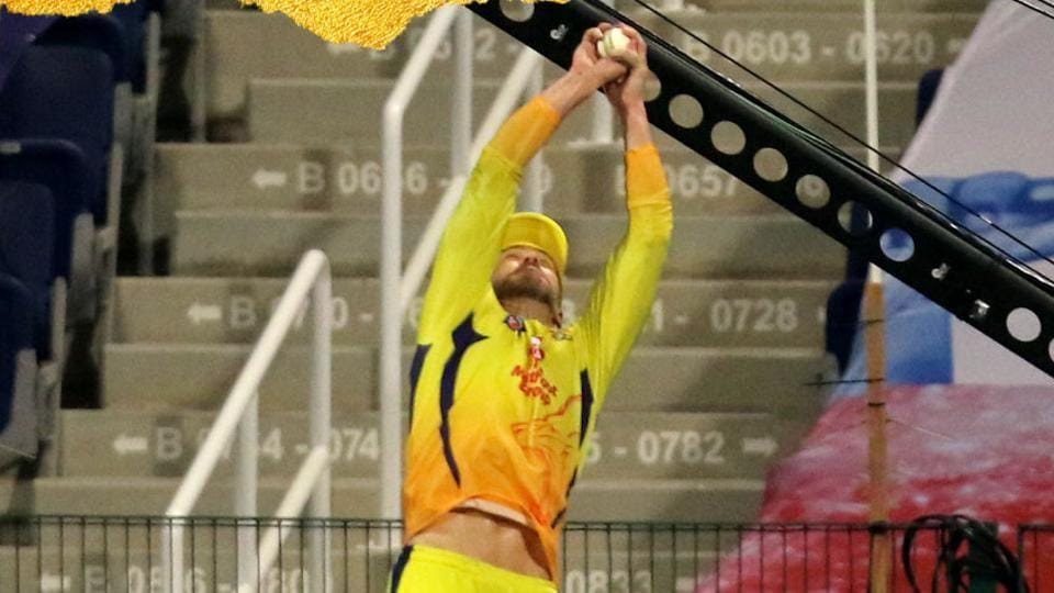 Faf duPlessis takes a stunner.