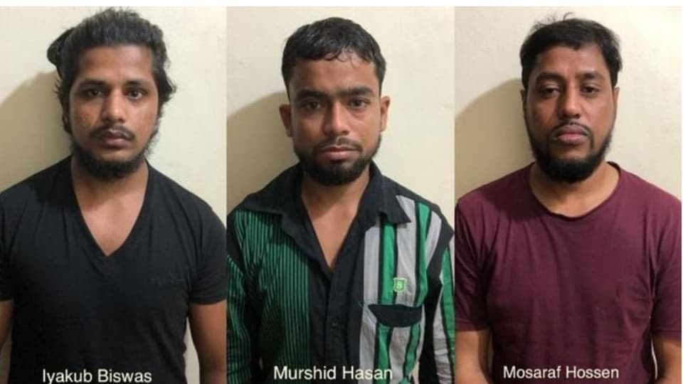 The three operatives arrested from Ernakulam