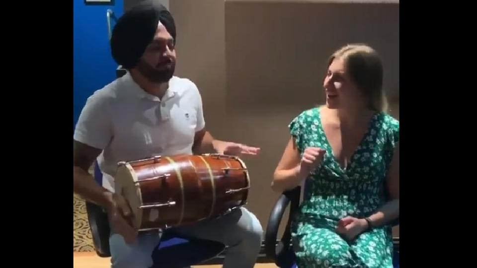 The clip was shared in Diljit Dosanjh's official Instagram profile.