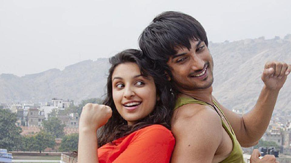 Sushant Singh Rajput with Parineeti Chopra in Shuddh Desi Romance.