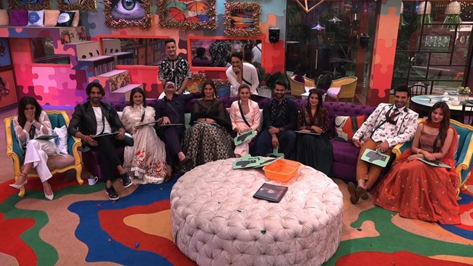Last season's contestants seen inside the Bigg Boss house.