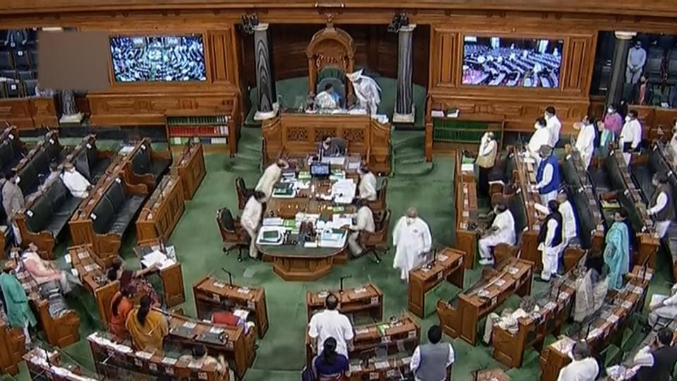 Parliamentarians in the Lok Sabha during the ongoing monsoon session.