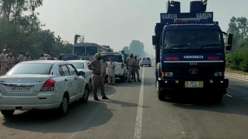 Heavy police deployment has been made to prevent farmers from blocking national highways.