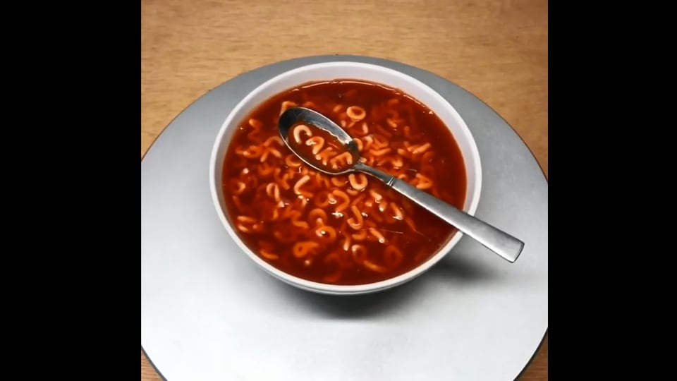 The image shows the 'bowl of soup' in question.