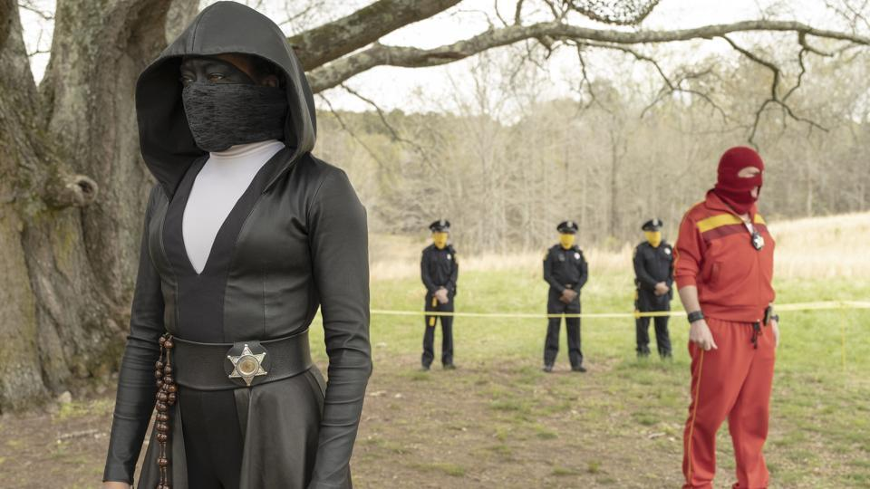 This image released by HBO shows Regina King in a scene from Watchmen. (Mark Hill/HBO via AP)