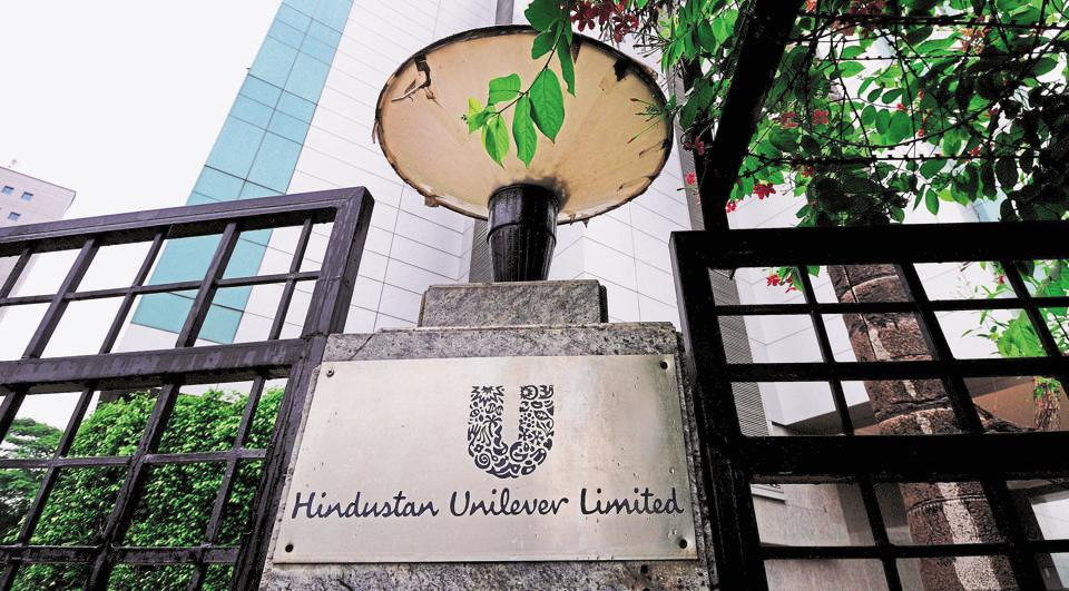 Hindustan Unilever Limited's  m-cap plummeted Rs 14,320.54 crore to Rs 4,93,007.39 crore