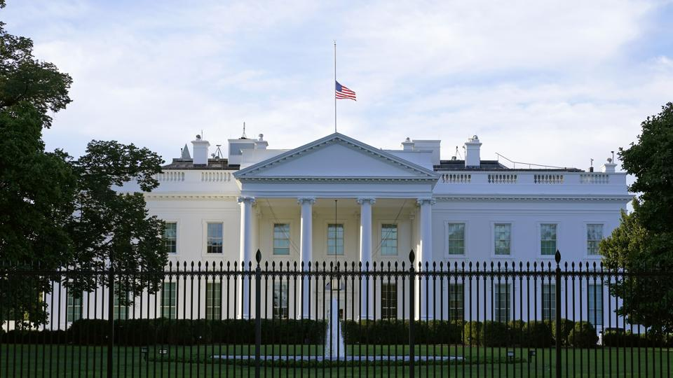 An envelope containing the poison ricin was intercepted at a government facility that screens mail addressed to the White House (in picture) and President Donald Trump.