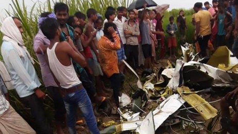 The scene from the accident site in Azamgarh in Uttar Pradesh.  (Photo: Sourced)