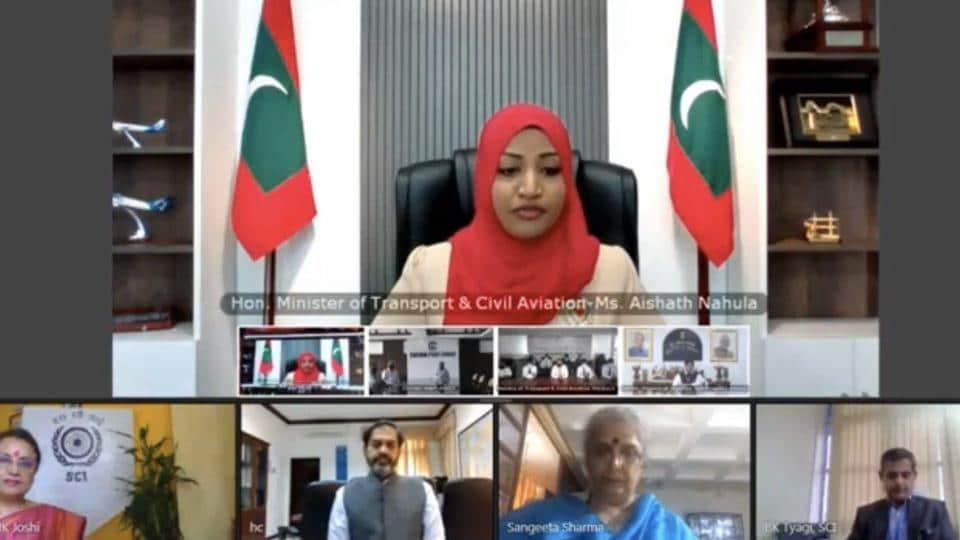 The maiden voyage of the ferry service was launched during a virtual ceremony by India's minister of state for shipping Mansukh Mandaviya and the Maldives' minister of transport and civil aviation Aishath Nahula. The ceremony was joined by representatives of Tuticorin and Cochin ports and officials of the Maldives Ports Limited.