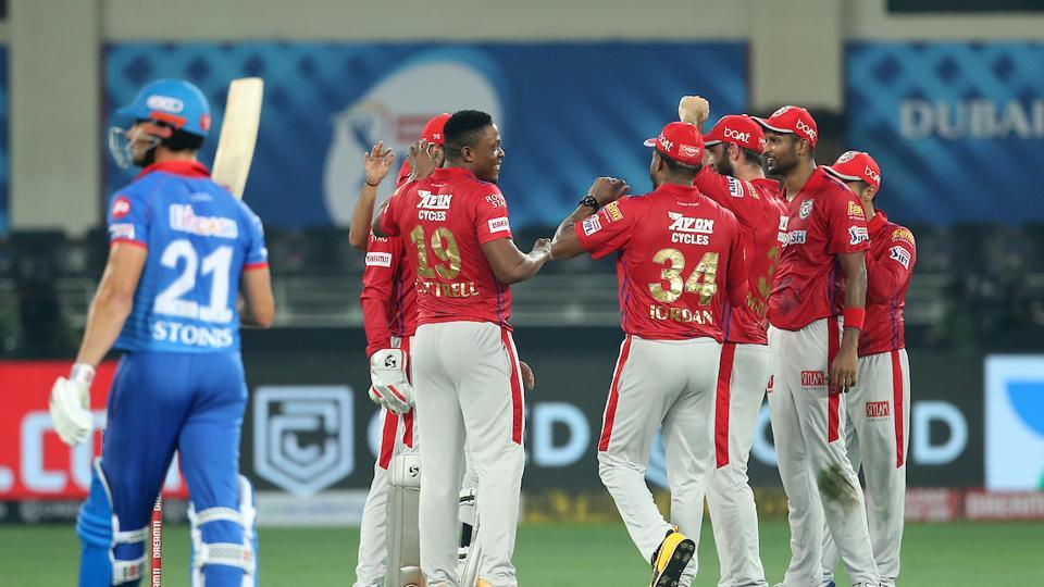 KingsXIPunjab players during match against DelhiCapitals.