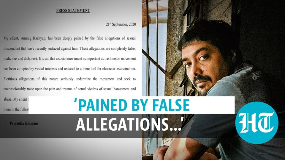 #MeToo: Anurag Kashyaps Lawyer Releases Statement, Says
