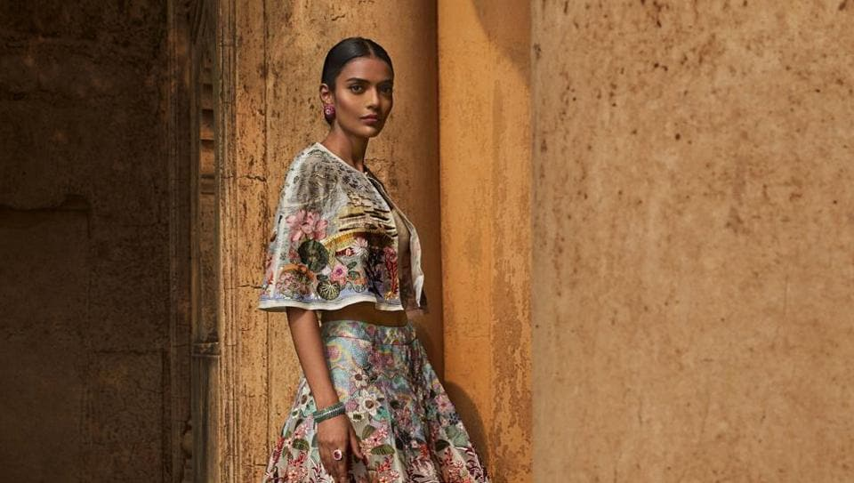 A model in Rahul Mishra's creation.